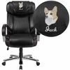 Embroidered HERCULES Series Big & Tall 500 lb. Rated Black Leather Executive Swivel Chair with Extra Wide Seat [GO-2092M-1-BK-EMB-GG]
