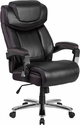 HERCULES Series Big & Tall 500 lb. Rated Black Leather Executive Swivel Chair with Height Adjustable Headrest [GO-2223-BK-GG]