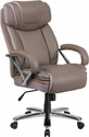 HERCULES Series 500 lb. Capacity Big & Tall Taupe Leather Executive Swivel Office Chair with Extra Wide Seat [GO-2092M-1-TP-GG]
