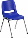 HERCULES Series 661 lb. Capacity Navy Ergonomic Shell Stack Chair with Chrome Frame and 16'' Seat Height [RUT-16-NVY-CHR-GG]