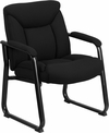 HERCULES Series 500 lb. Capacity Big & Tall Black Fabric Executive Side Chair with Sled Base [GO-2077F-GG]