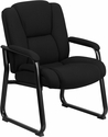 HERCULES Series 500 lb. Capacity Big & Tall Black Fabric Executive Side Chair with Sled Base [GO-2138F-GG]