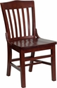 HERCULES Series Mahogany Finished School House Back Wooden Restaurant Chair [XU-DG-W0006-MAH-GG]