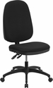 High Back Black Fabric Multi-Functional Swivel Task Chair [WR79-GG]