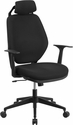 High Back Black Fabric Executive Swivel Office Chair with Height Adjustable Headrest [CS-75-GG]