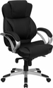 High Back Black Leather Contemporary Executive Swivel Office Chair [H-9626L-2-GG]