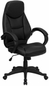 High Back Black Leather Contemporary Executive Swivel Office Chair [H-HLC-0005-HIGH-1B-GG]