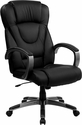 High Back Black Leather Executive Swivel Office Chair [BT-9069-BK-GG]