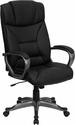 High Back Black Leather Executive Swivel Office Chair [BT-9177-BK-GG]