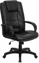 High Back Black Leather Executive Swivel Office Chair [GO-5301B-BK-LEA-GG]