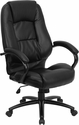 High Back Black Leather Executive Swivel Office Chair [GO-710-BK-GG]