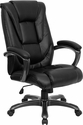 High Back Black Leather Executive Swivel Office Chair [GO-7194B-BK-GG]