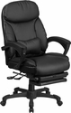 High Back Black Leather Executive Reclining Swivel Chair with Comfort Coil Seat Springs and Arms [BT-90506H-GG]