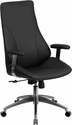 High Back Black Leather Executive Swivel Office Chair [BT-90068H-GG]