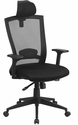 High Back Black Mesh Executive Swivel Chair with Back Angle Adjustment and Adjustable Arms [HL-0004K-HR-GG]