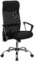 High Back Black Leather and Mesh Swivel Task Chair [BT-905-GG]