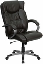 High Back Espresso Brown Leather Executive Swivel Office Chair [BT-9088-BRN-GG]