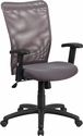 High Back Gray Mesh Executive Ergonomic Swivel Office Chair with Arms [CY54A-GY-A-GG]