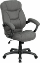 High Back Gray Microfiber Contemporary Executive Swivel Office Chair [GO-725-GY-GG]