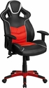 High Back Rosso Corsa Red Vinyl Executive Swivel Office Chair with Inner-Coil Spring Comfort Seat and Red Base [CP-B331A01-RED-GG]