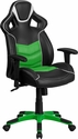 High Back Verde Mantis Green Vinyl Executive Swivel Office Chair with Inner-Coil Spring Comfort Seat and Green Base [CP-B331A01-GN-GG]