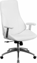 High Back White Leather Executive Swivel Office Chair [BT-90068H-WH-GG]