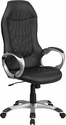 High Back Black Vinyl Executive Swivel Office Chair [CH-CX0906H-BK-GG]