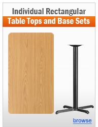 Individual Rectangular Table and Base Sets