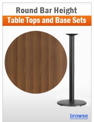 Individual Round Bar Height Table and Base Sets