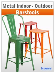 Metal Indoor-Outdoor 24'' & 30'' Barstools