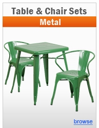 Metal Indoor & Outdoor Table Sets - Chairs & Stools