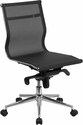Mid-Back Transparent Black Mesh Executive Swivel Chair with Synchro-Tilt Mechanism [BT-2768M-NA-GG]