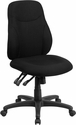 Mid-Back Black Fabric Multi-Functional Ergonomic Swivel Task Chair [BT-90297M-GG]
