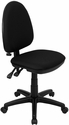 Mid-Back Black Fabric Multi-Functional Swivel Task Chair with Adjustable Lumbar Support [WL-A654MG-BK-GG]