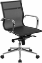 Mid-Back Transparent Black Mesh Executive Swivel Chair with Synchro-Tilt Mechanism and Arms [BT-2768M-GG]