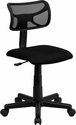 Low Back Black Mesh Swivel Task Chair [BT-6138-1-BK-GG]