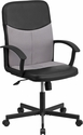 Mid-Back Black Vinyl and Light Gray Mesh Racing Executive Swivel Office Chair [CP-B301E01-BK-GY-GG]