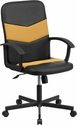 Mid-Back Black Vinyl and Orange Mesh Racing Executive Swivel Office Chair [CP-B301C01-BK-OR-GG]