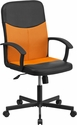 Mid-Back Black Vinyl and Orange Mesh Racing Executive Swivel Office Chair [CP-B301E01-BK-OR-GG]