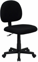 Low Back Ergonomic Black Fabric Swivel Task Chair [BT-660-BK-GG]
