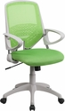 Mid-Back Green Mesh Swivel Task Chair with Arms [H-0549FX-GN-GG]