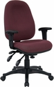 Mid-Back Multi-Functional Burgundy Fabric Executive Swivel Office Chair [BT-662-BY-GG]
