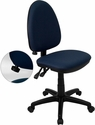 Mid-Back Navy Blue Fabric Multi-Functional Swivel Task Chair with Adjustable Lumbar Support [WL-A654MG-NVY-GG]