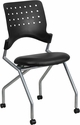 Galaxy Mobile Nesting Chair with Black Leather Seat [WL-A224V-LEA-GG]