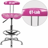 Personalized Vibrant Candy Heart and Chrome Drafting Stool with Tractor Seat [LF-215-CANDYHEART-EMB-VYL-GG]