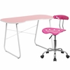 Pink Computer Desk and Tractor Chair [NAN-15LF-GG]