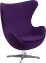 Purple Wool Fabric Egg Chair with Tilt-Lock Mechanism [ZB-16-GG]