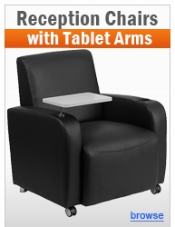 Reception Chairs with Tablet Arms