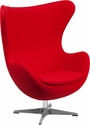 Red Wool Fabric Egg Chair with Tilt-Lock Mechanism [ZB-14-GG]
