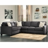 Signature Design by Ashley Alenya 3-Piece LAF Sofa Sectional in Charcoal Microfiber [FSD-1669SEC-3LAFS-CH-GG]